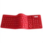Flexible 2006 mini keyboard, r�d (DANSK layout)