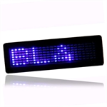LED Badge, bl� 7 x 23 dioder