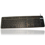 Flexible Full Size Keyboard gr�sort (NORSK layout)