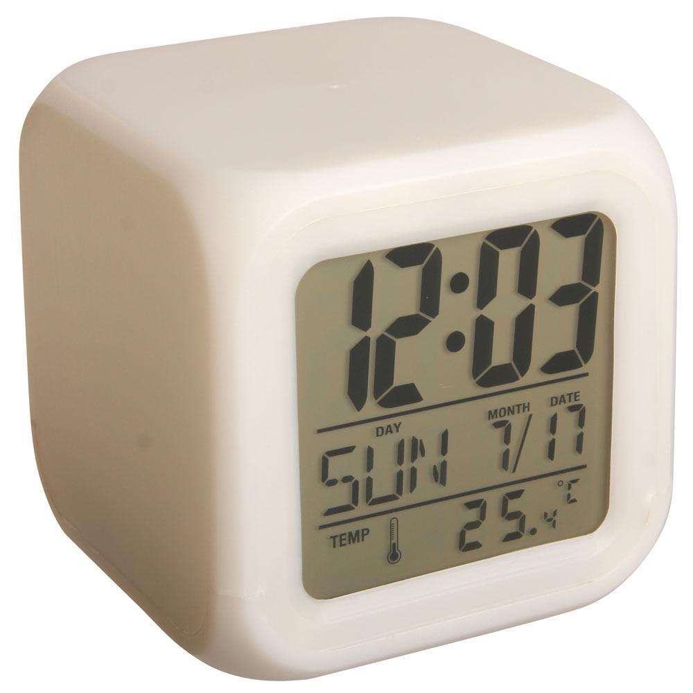 Vækkeur med farvet LED ~ Indbygget termometer 25bc7468cfbd9